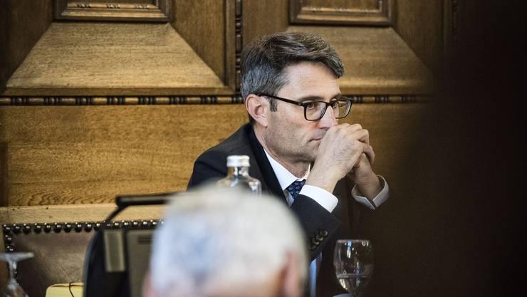 Intensive Debatte: Der Gesundheitsdirektor Lukas Engelberger konnte das Parlament von der geplanten Spitalfusion überzeugen.