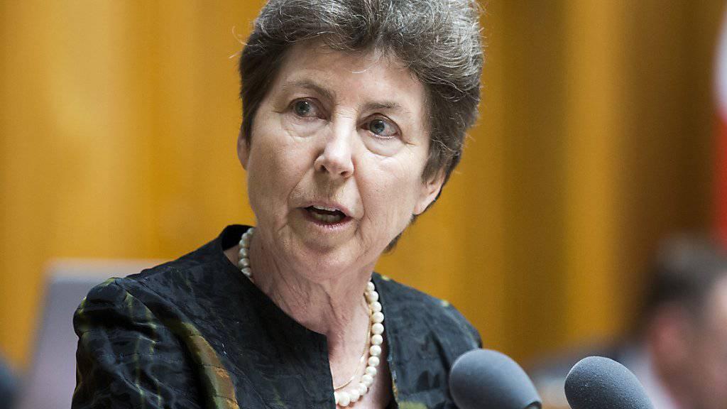 Kandidiert 2019 möglicherweise erneut: die Zürcher CVP-Nationalrätin Kathy Riklin. Sie gehört seit 1999 der grossen Kammer an. (Archivbild)