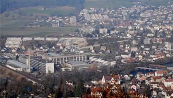 Aus dem Industriegebiet von Ennetturgi (Gemeindegebiet Untersiggenthal) sollen wieder mehr Aktiensteuern fliessen. Archiv