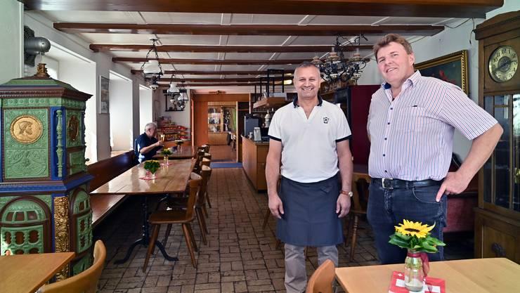 Thomas Jäggi (rechts) führt das Restaurant zusammen mit Resat Turan.