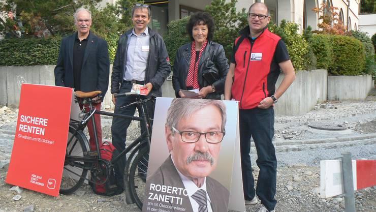 Heinz von Arb, Philipp Hadorn, Bea Heim und Urs Huber (v.l.).