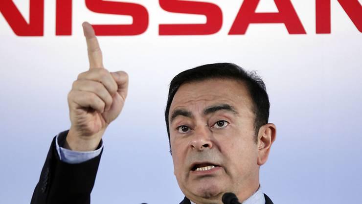 Weitere schlechte Nachrichten für Carlos Ghosn: Die japanische Staatsanwaltschaft erhebt neue Vorwürfe gegen den ehemaligen Nissan-Manager. (Archivbild)