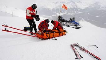 Selten gewordenes Bild: Skiunfall in St. Moritz. Foto: Keystone