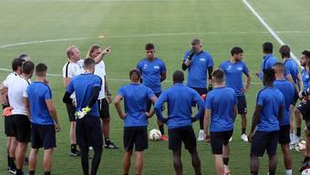 Der FC Zürich beim Abschlusstraining in Nikosia vor dem Auswärtsspiel gegen AEK Larnaca