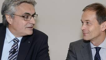 Alois Vinzens, VR-Praesident Swisscanto, Martin Scholl, CEO ZKB