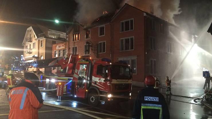 Beim Brand einer Pizzeria in Aadorf TG wurden insgesamt vier Personen verletzt.