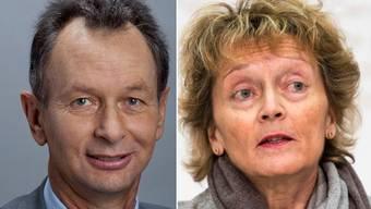 FDP-Präsident Philipp Müller und Finanzministerin Eveline Widmer-Schlumpf.