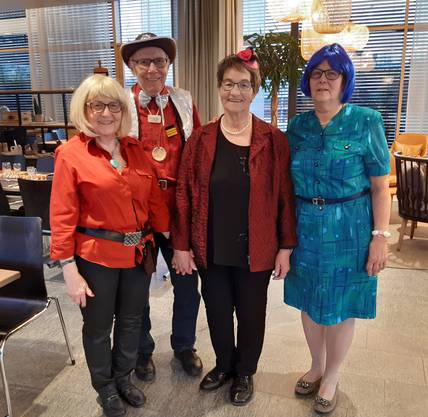 Ein Teil der wiedergewählten Obmannschaft: Ursula Meise, Hansueli Loosli, Annamarie Zeltner und Erika Flury (auf dem Bild fehlt Gilbert Eschmann)