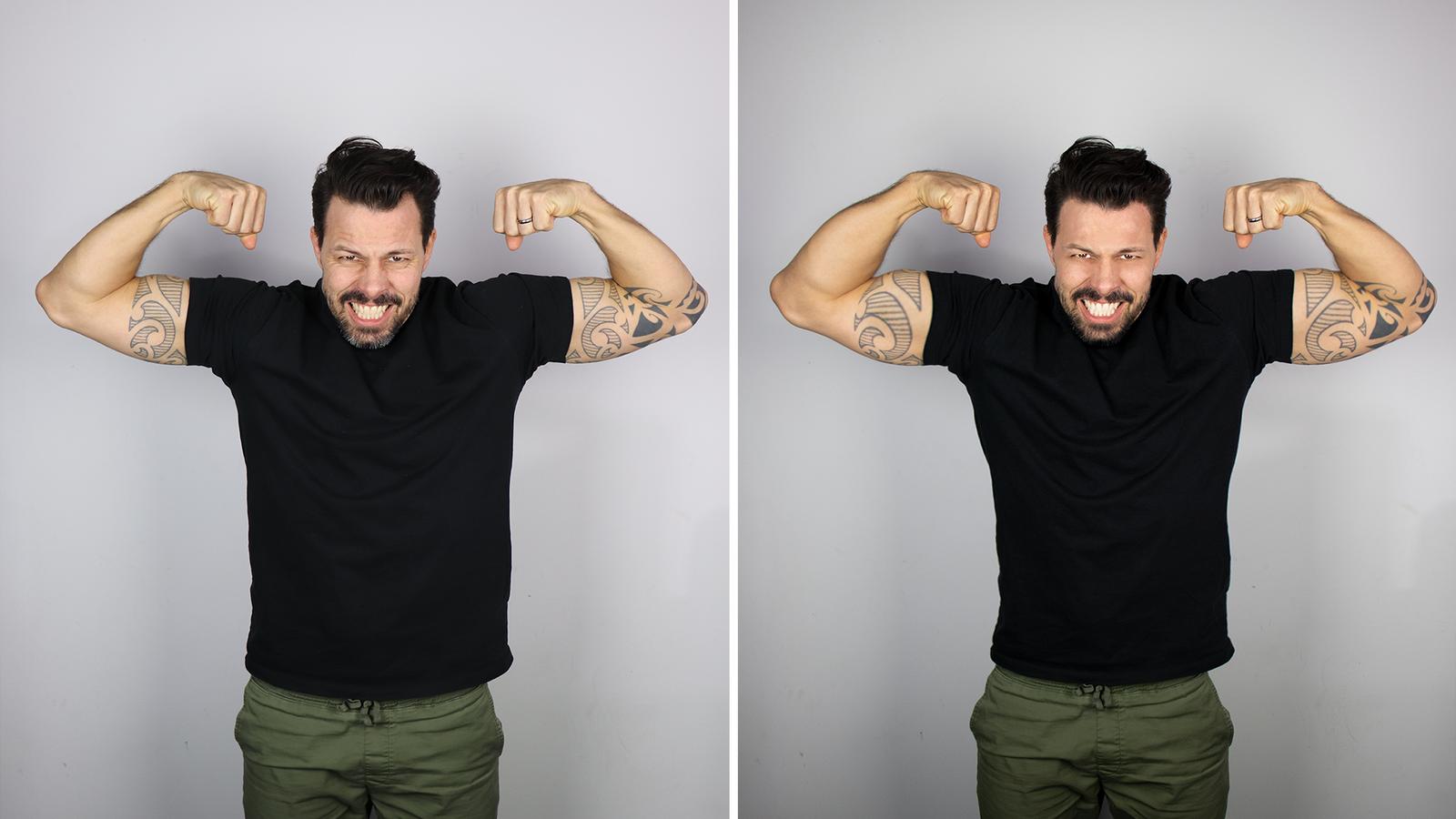 Nick ist ohnehin schon muskulös, aber ein bisschen mehr geht doch immer, oder? (© Radio 24)