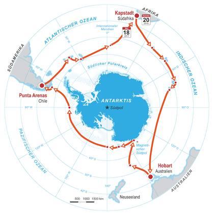 Die Antarktis-Route