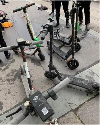 Einige der aus dem Zürichsee geborgenen E-Scooter.