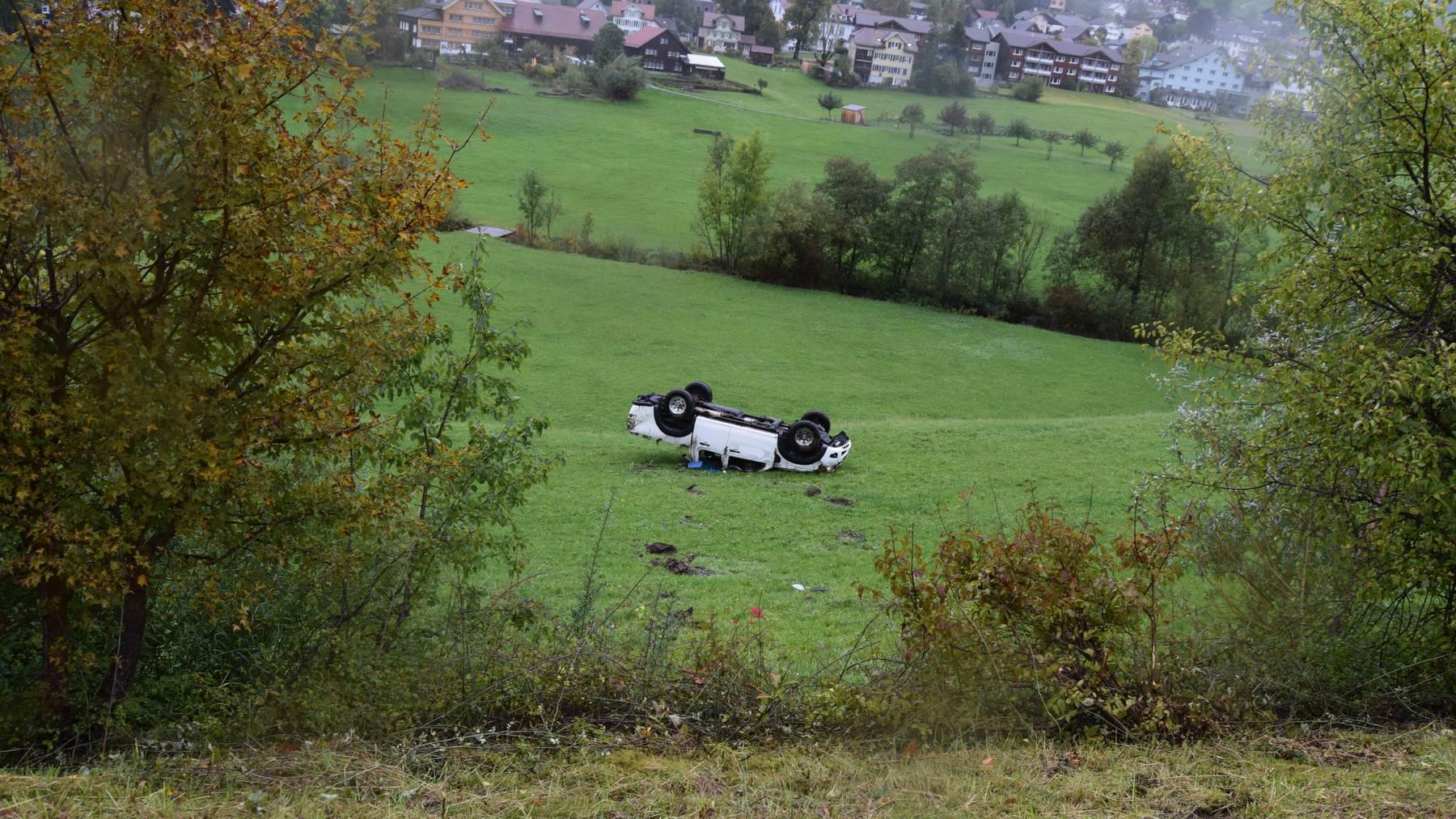 Autounfall in Gais