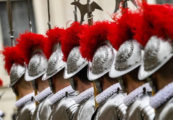 Die Schweizergarde in Rom.