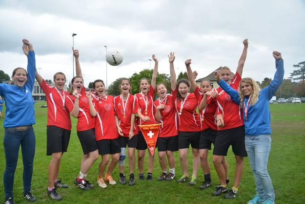 U16 Schweizermeister 2014 – die Chulmer «Goldies» haben den Schweizer Korbball-Olymp erreicht.