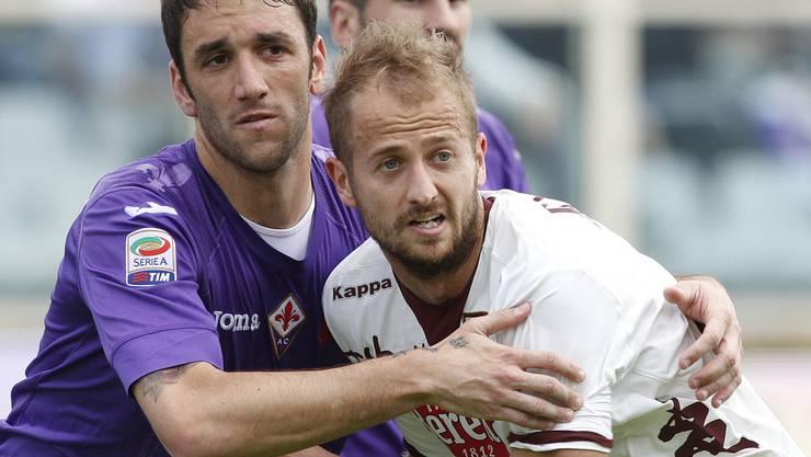 Migjen Basha (rechts) im April 2013 bei einem Serie-A-Spiel mit dem FC Torino gegen Fiorentina
