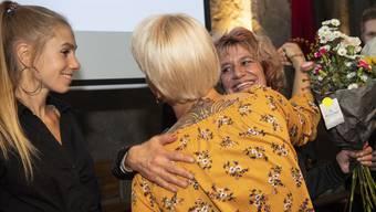 Die Grüne Katharina Prelicz-Huber freut sich über das Zwischenresultat.