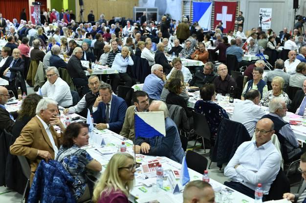 Die Delegiertenversammlung der SVP-Schweiz am Samstag in Glattbrugg.