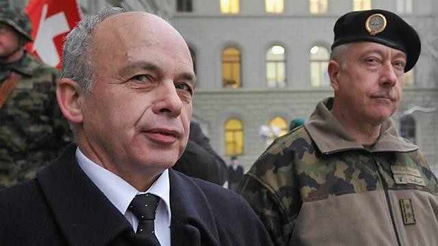 VBS-Chef Maurer und Armeechef Blattmann