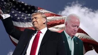 Showdown in den USA: Donald Trump will weitere vier Jahre bleiben, Joe Biden will ihn ablösen.