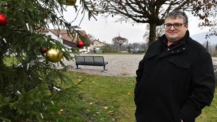 Der Mitgründer des Winznauer Weihnachtsvereins kann dieses Jahr keinen Weihnachtsmarkt im Dorf durchführen.