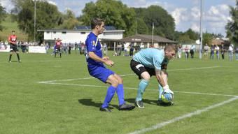 Wangens Torhüter Marco Häfliger beim 2:2 gegen den FC Biberist.