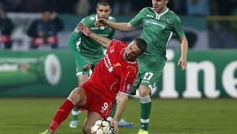 Liverpool (hier Rickie Lambert) fehlte auch gegen Rasgrad der Stand