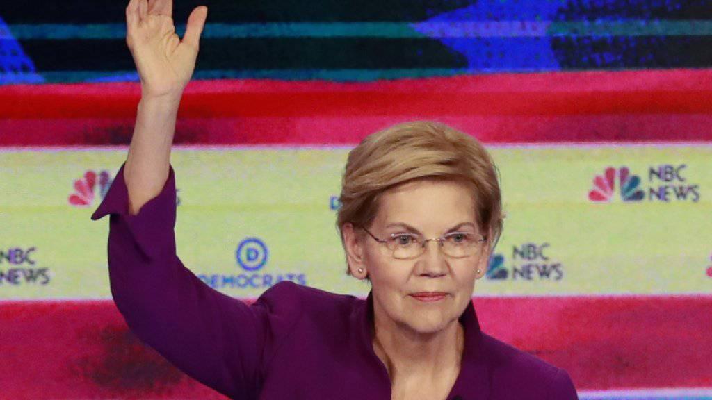 Ist eine der Favoritinnen für die Nomination als demokratische US-Präsidentschaftskandidatin bei den Wahlen 2020: Senatorin Elisabeth Warren aus Massachusetts.