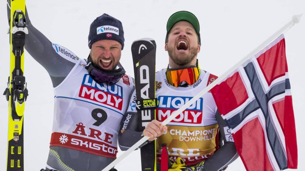 Kjetil Jansrud und Aksel Lund Svindal haben gut lachen