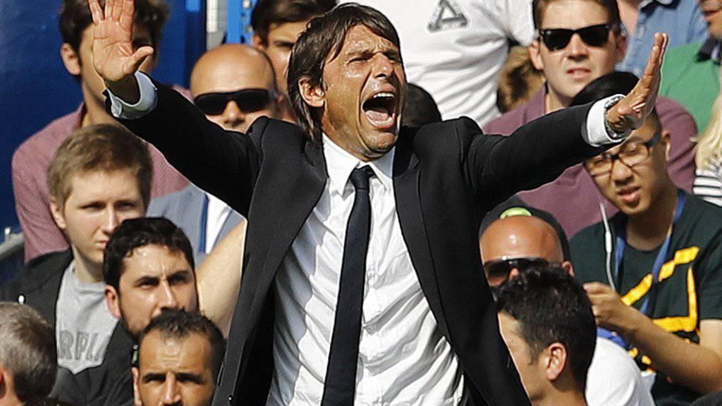 Die Gesten des neuen Chelsea-Trainers Antonio Conte scheinen von den Spielern verstanden zu werden