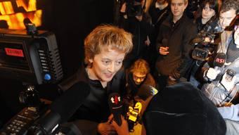 Bundespräsidentin Eveline Widmer-Schlumpf an der Eröffnung der 47. Solothurner Filmtage.