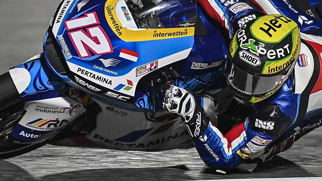 Auf dem Motorrad seines neuen Teams noch nicht schnell genug: Tom Lüthi in Katar