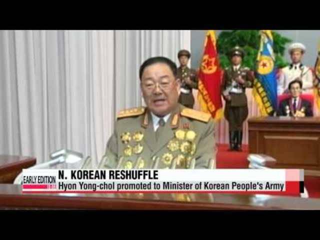 In Nordkorea wird Hyon Yong Chol als neuer Verteidigungsminister nominiert