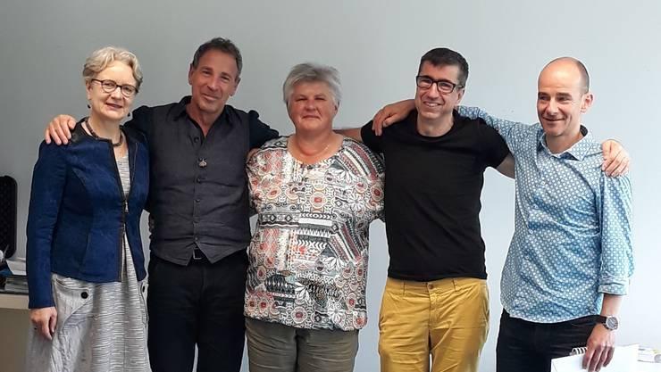 von links: Kursleiterin Cornelia Willi mit Stefan Billen, Basel, Rosi Stanglmair, Biberist, Bruno Schulthess, Burgdorf und Michael Laube, Basel