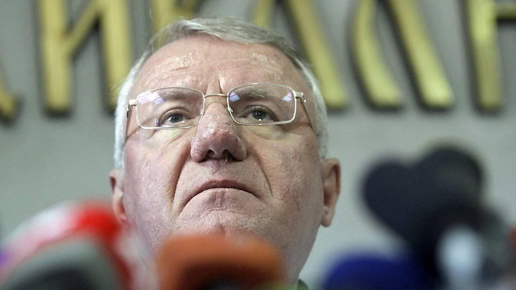 Schuldspruch in letzter Instanz: Der serbische Nationalist Seselj ist vom Uno-Kriegsverbrechertribunal für das frühere Jugoslawien zu zehn Jahren Gefängnis verurteilt worden. (Archivbild)