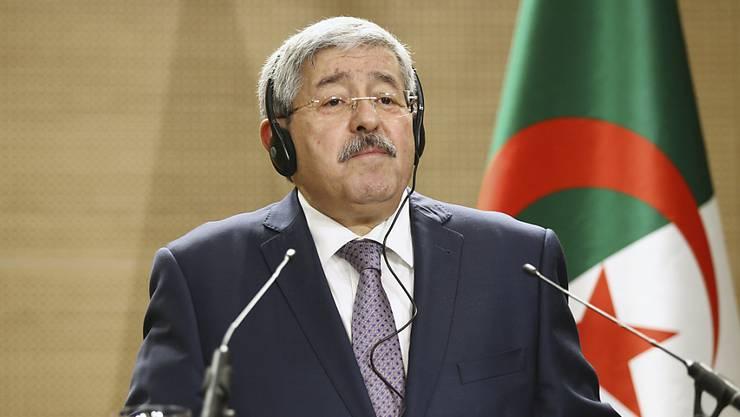 Sein Land steht auf der Problemliste: Algeriens Ministerpräsident Ahmed Ouyahia. (Archiv)