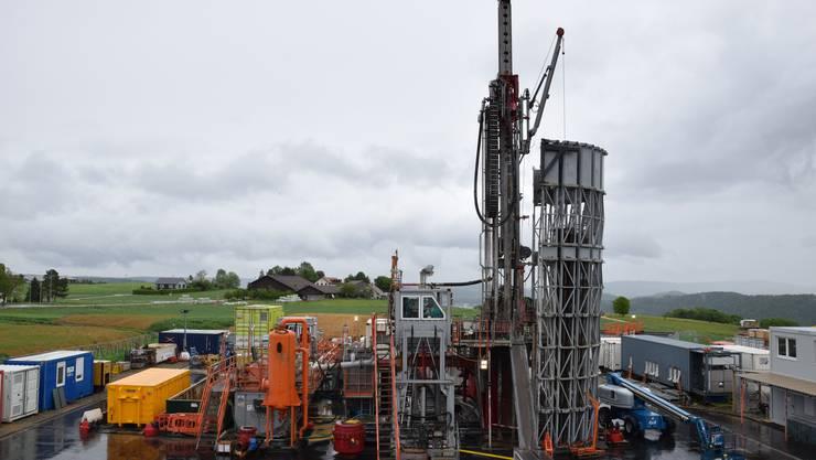 Die Nationale Genossenschaft für die Lagerung radioaktiver Abfälle (Nagra) hat den Bohrbetrieb aufgenommen.