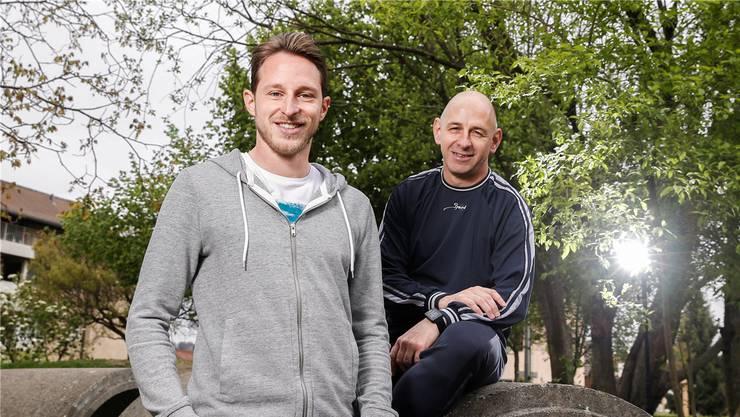 «Es ist traumhaft, wenn ein Sohn in die eigenen Fussstapfen tritt», sagt Dario über Luca Zuffi (links) beim Besuch in ihrer Heimat Winterthur.
