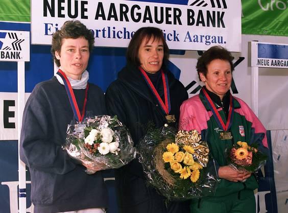 Bild vom 22. Gippinger Stauseelauf 2000. Humbel rannte auf den ersten Platz.