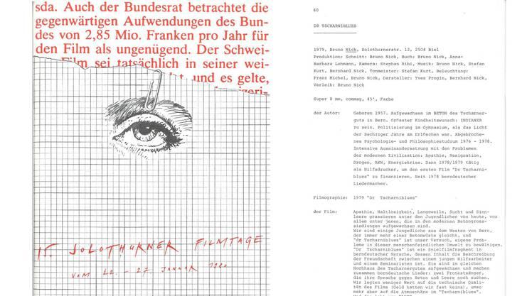 «Dr Tscharniblues» im Programm der 15. Solothurner Filmtage