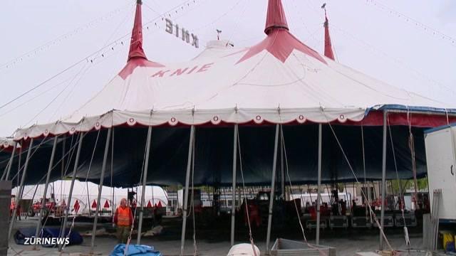 Ankunft Zirkus Knie in Zürich