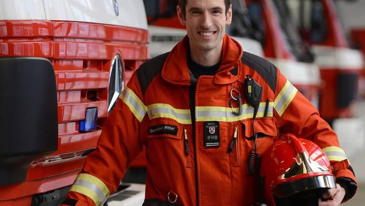 Bei Wasserschäden oder Bränden muss Dominique Ritter auch an Weihnachten ausrücken.