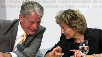 Thomas Bauer wird Anfang 2016 neuer Verwaltungsratspräsident der Finma und noch ganz oft vertrauliche Gespräche mit Bundesrätin Eveline Widmer-Schlumpf führen.
