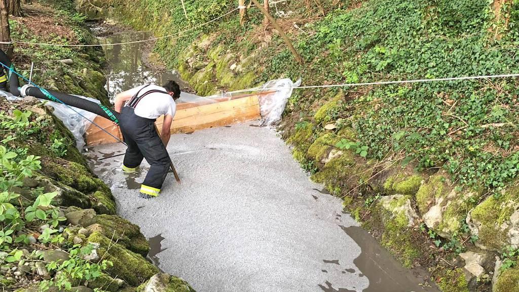 Gülle verschmutzt Schächte und Gewässer