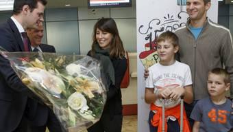 Staatsrat Pierre Maudet überreicht Blumen