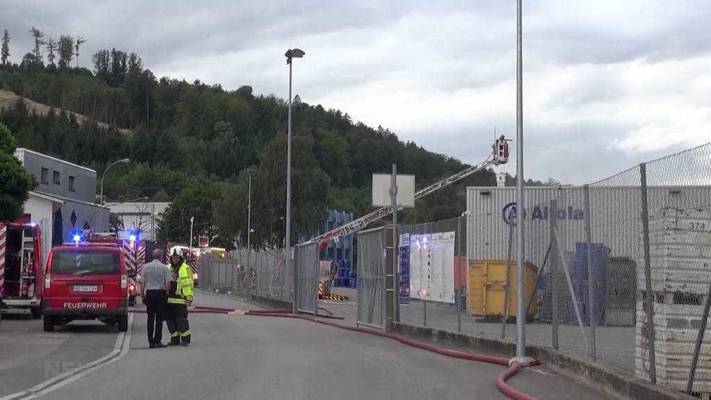 Brand in Chemiefirma in Pieterlen: Behörden warnten vor giftigen Stoffen