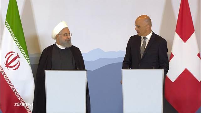 Darüber sprach der iranische Präsident mit Bundesrat Berset