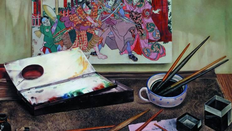 """Das Gemälde """"Japanischer Holzschnitt"""" (um 1930) von Aimé Barraud ist Teil der Ausstellung """"Silences"""" im Musée Rath in Genf. Die Schau dauert vom 14. Juni bis 27. Oktober 2019."""