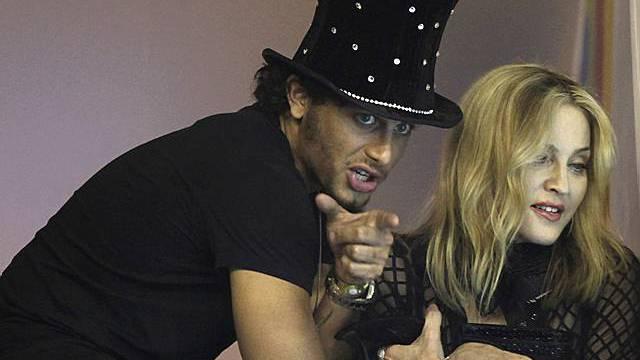 Madonna mit ihrem Lover Jesus an einer Party (Archiv)