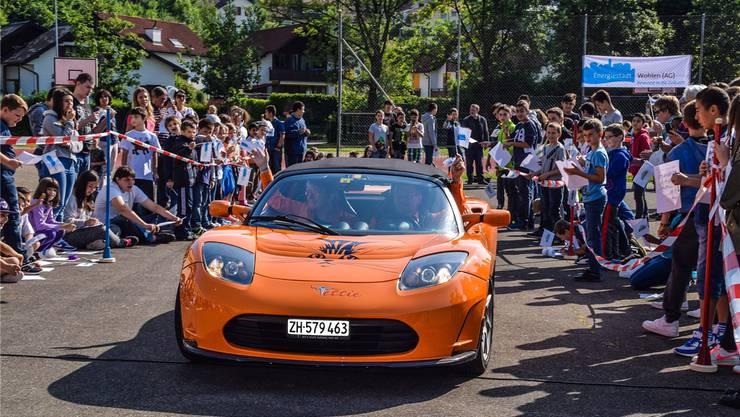 «Mega geil!» – Der Tesla Roadster war ein Star unter den E-Mobilen.