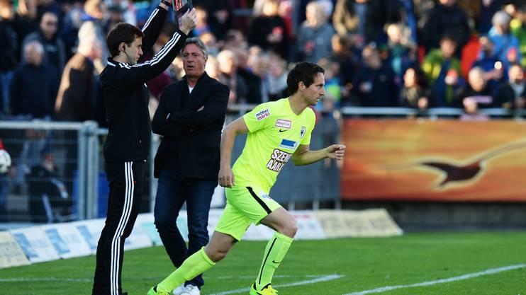 Burki gab gegen Winterthur sein Verletzungs-Comeback.